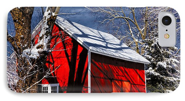 New England Winter IPhone Case by Karol Livote