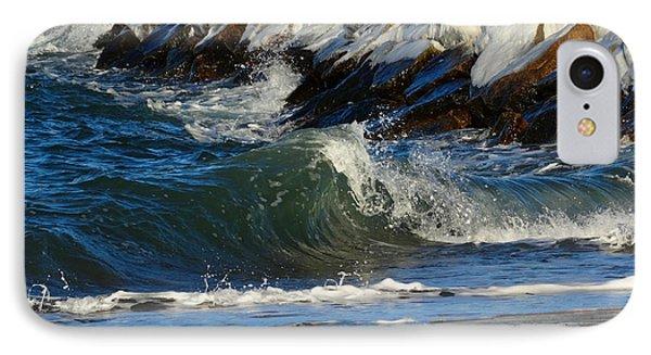 New England Winter Seashore IPhone Case by Dianne Cowen