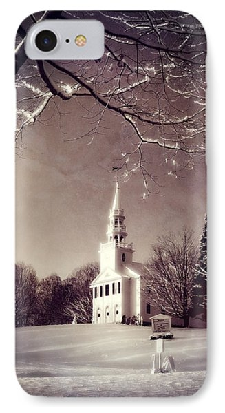 New England Winter Village Scene IPhone Case by Thomas Schoeller