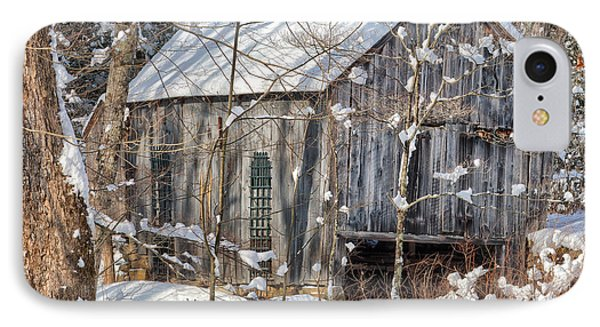 New England Winter Woods Square Phone Case by Bill Wakeley