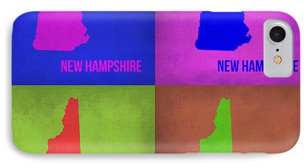 New Hampshire Pop Art Map 1 IPhone Case by Naxart Studio