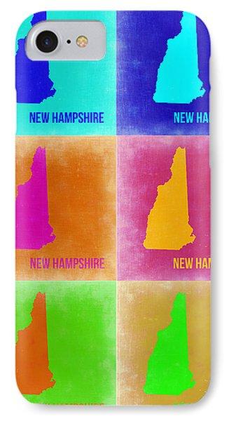 New Hampshire Pop Art Map 2 IPhone Case by Naxart Studio