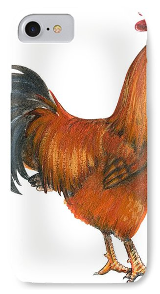 New Hampshire Rooster  Phone Case by Anonymous