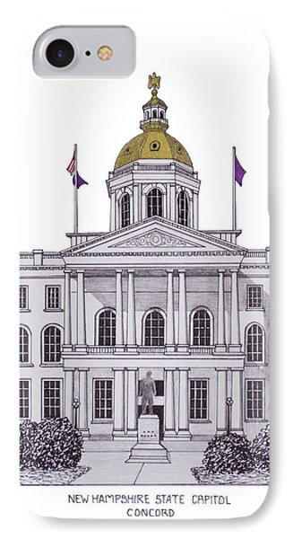 New Hampshire State Capitol IPhone Case by Frederic Kohli
