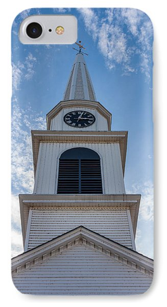 New Hampshire Steeple Detailed View Phone Case by Karen Stephenson