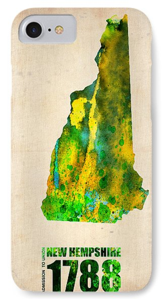 New Hampshire Watercolor Map Phone Case by Naxart Studio