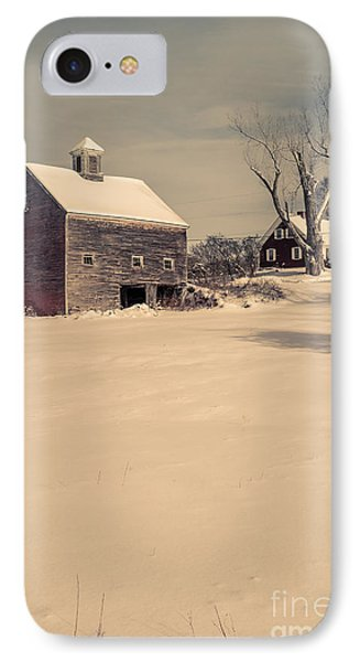 New Hampshire Winter Farm Scene IPhone Case by Edward Fielding