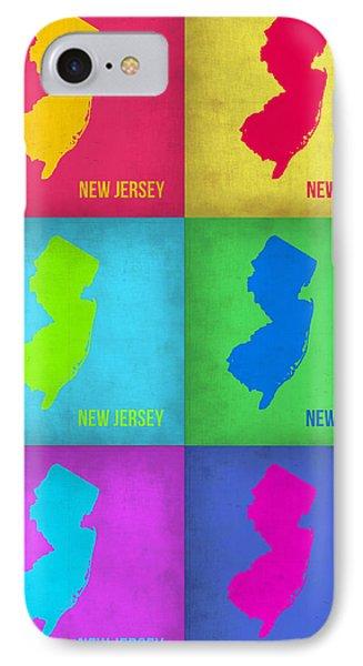 New Jersey Pop Art Map 1 Phone Case by Naxart Studio