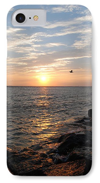 New Jersey Sunrise Phone Case by Kathy Gibbons