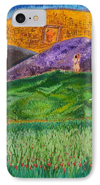 IPhone Case featuring the painting New Jerusalem by Cassie Sears