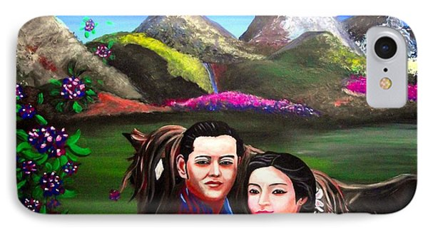 New King And Queen Of Bhutan IPhone Case