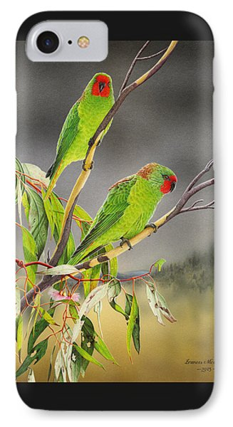 New Life - Little Lorikeets IPhone Case by Frances McMahon