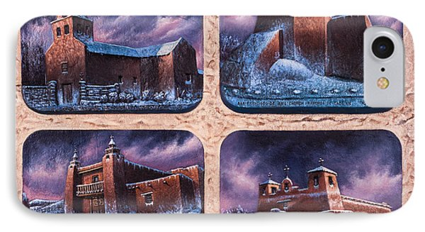 New Mexico Churches In Snow Phone Case by Ricardo Chavez-Mendez