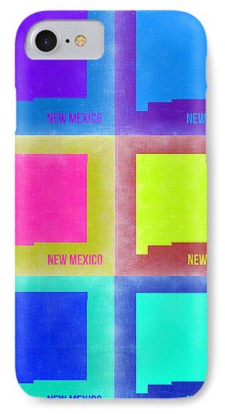 New Mexico Pop Art Map 2 Phone Case by Naxart Studio