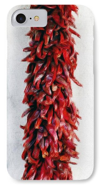New Mexico Red Chili Art IPhone Case by Barbara Chichester