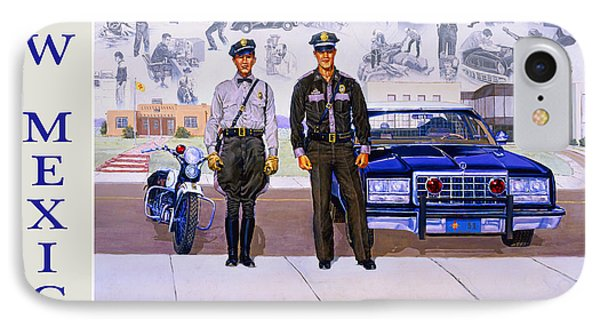 New Mexico State Police Poster IPhone Case by Randy Follis