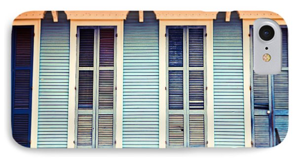 IPhone Case featuring the photograph New Orleans Blue And Orange House by Sylvia Cook