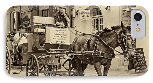 New Orleans - Carriage Ride Sepia IPhone Case by Steve Harrington
