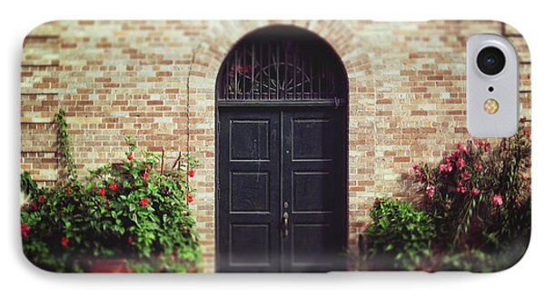 IPhone Case featuring the photograph New Orleans Courtyard Door by Heather Green