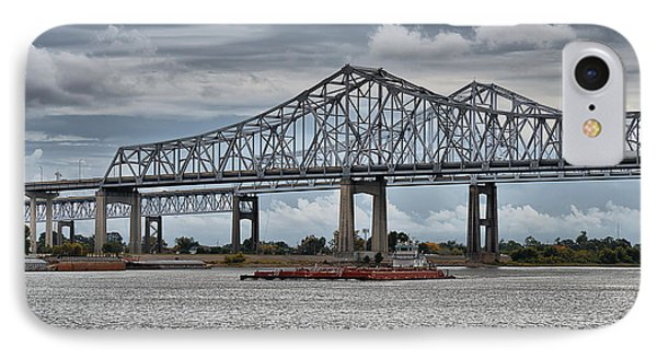 New Orleans Crescent City Connection Bridge IPhone Case by Christine Till