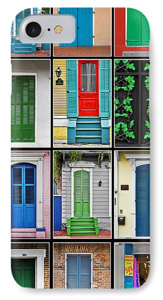 New Orleans Doors IPhone Case by Christine Till