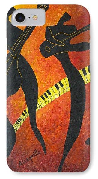 New Orleans Jazz IPhone Case by Pamela Allegretto