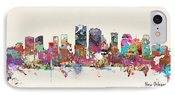 New Orleans Louisiana Skyline IPhone Case by Bri B