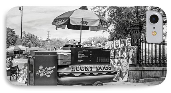 New Orleans - Lucky Dogs Bw IPhone Case