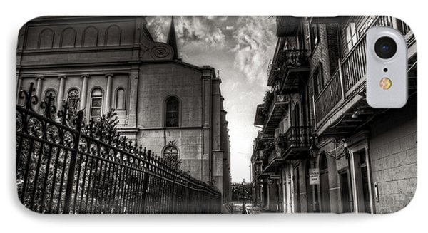 New Orleans' Pirates Alley In Black And White Phone Case by Greg and Chrystal Mimbs