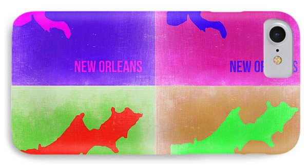 New Orleans Pop Art Map 2 Phone Case by Naxart Studio
