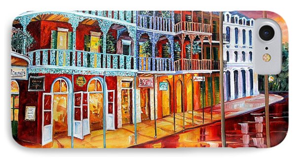 New Orleans Reflections In Red Phone Case by Diane Millsap