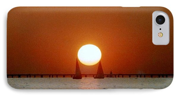 IPhone Case featuring the photograph New Orleans Sailing Sun On Lake Pontchartrain by Michael Hoard