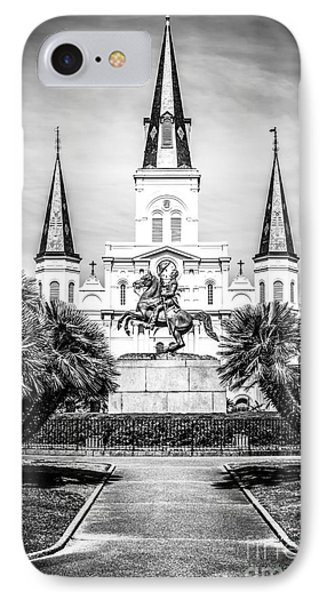 New Orleans St. Louis Cathedral Black And White Picture IPhone Case