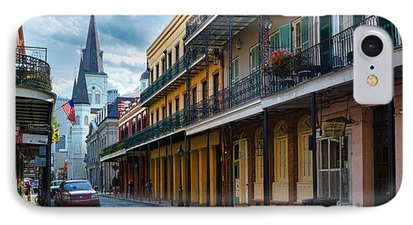 New Orleans Street IPhone Case by Inge Johnsson