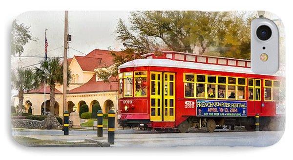 New Orleans Streetcar Paint Phone Case by Steve Harrington