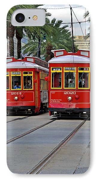 New Orleans Streetcars IPhone Case by Christine Till