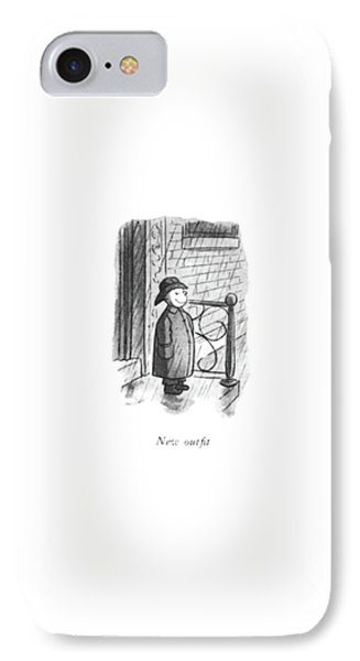 New Out?t IPhone Case by William Steig