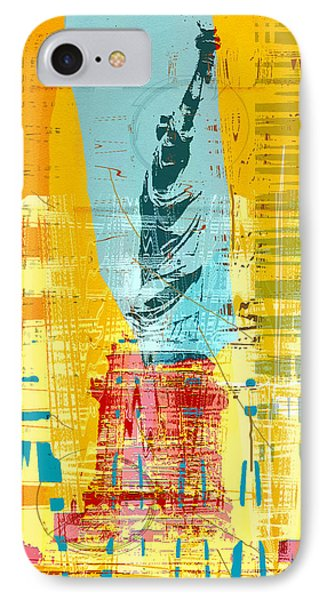 New Paint - New York Liberty Statue I IPhone Case by Joost Hogervorst