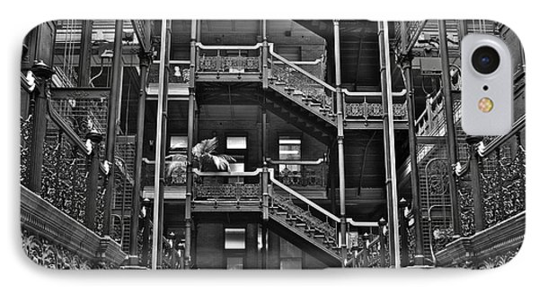 New Photographic Art Print For Sale Bradbury Building Downtown La Phone Case by Toula Mavridou-Messer