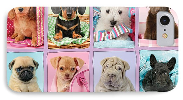 New Puppy Multipic IPhone Case by Greg Cuddiford
