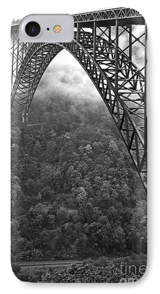 New River Gorge Bridge Black And White IPhone Case by Thomas R Fletcher