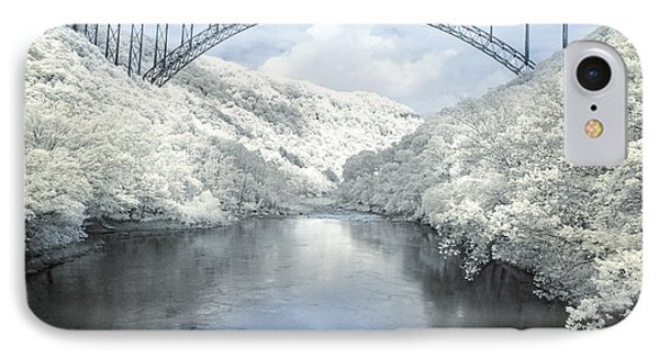 New River Gorge Bridge In Infrared IPhone Case
