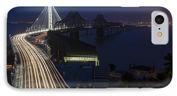 New San Francisco Oakland Bay Bridge IPhone Case by Adam Romanowicz