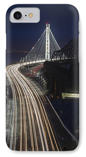 New San Francisco Oakland Bay Bridge Vertical IPhone Case by Adam Romanowicz