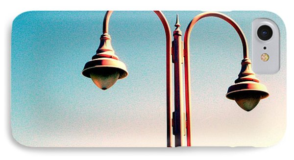 Beach Lamp Post IPhone Case by Valerie Reeves