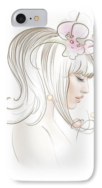 IPhone Case featuring the drawing New Star by Anna Ewa Miarczynska