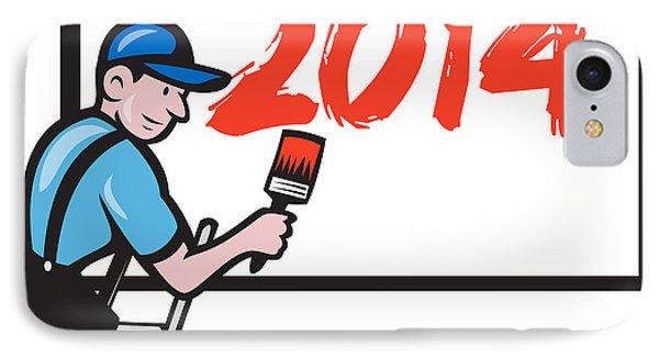 New Year 2014 Painter Painting Billboard Phone Case by Aloysius Patrimonio