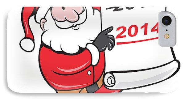 New Year 2014 Santa Claus Scroll Sign Phone Case by Aloysius Patrimonio