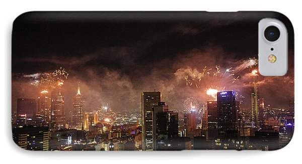 New Year Fireworks Phone Case by Ray Warren
