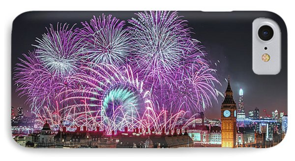 New Year Fireworks IPhone Case by Stewart Marsden